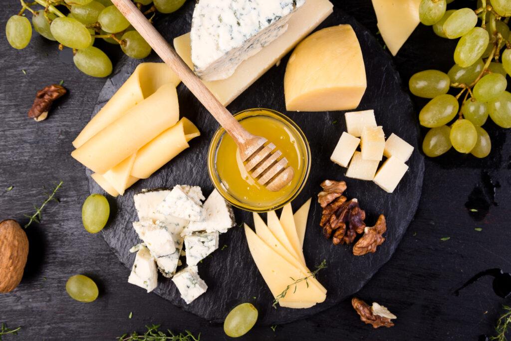 Cata de quesos tabla